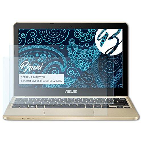 Bruni Schutzfolie kompatibel mit Asus VivoBook E200HA E200HA Folie, glasklare Displayschutzfolie (2X)