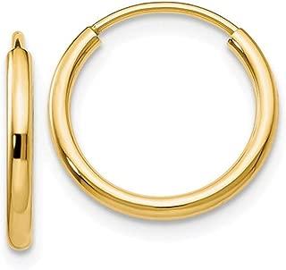 Best 10k gold endless hoop earrings Reviews