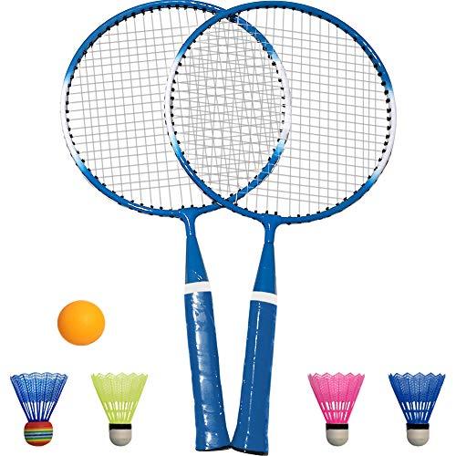TINTON LIFE 1 Pair Badminton Racket for Children Indoor/Outdoor Sport GameBlue