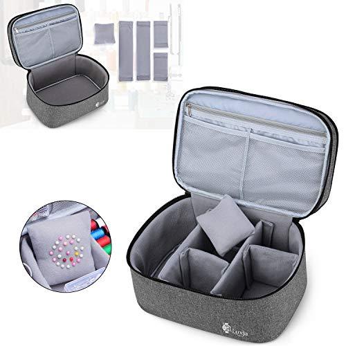Luxja裁縫バッグ裁縫箱大容量【※バッグのみ】裁縫道具収納ソーイングボックスグレー