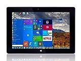Tablet PC de 10 pulgadas Fusion5 Ultra Slim Windows (USB 3.0, Intel Quad-core, 5MP y 2MP cámaras duales, HDMI, Bluetooth, Windows 10 Home Tablet Computer) (64GB)