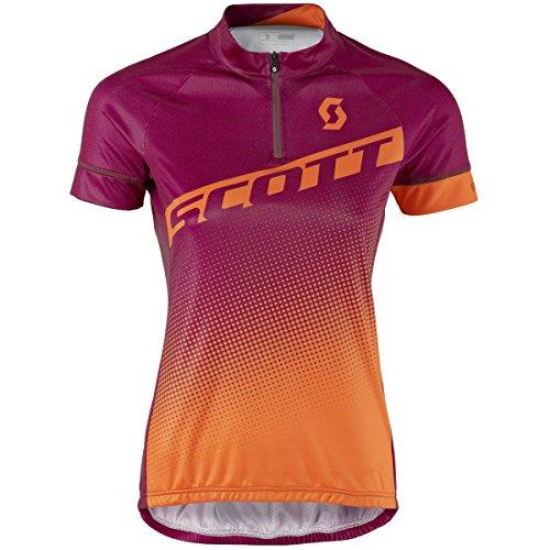 Scott Endurance 40 Maillot de vélo Femme Courte Violet/Orange 2017, plum violet/carrot orange, M (38/40)
