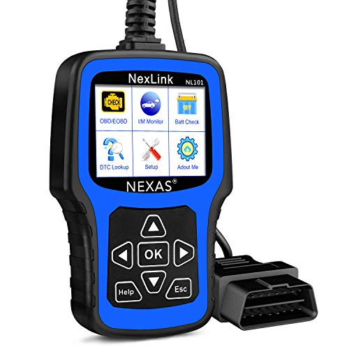 NEXAS NL101 OBD2 Scanner - Check Engine Light Car Code Reader Automotive Diagnostic Tool Fault Code Scanner with Battery Test