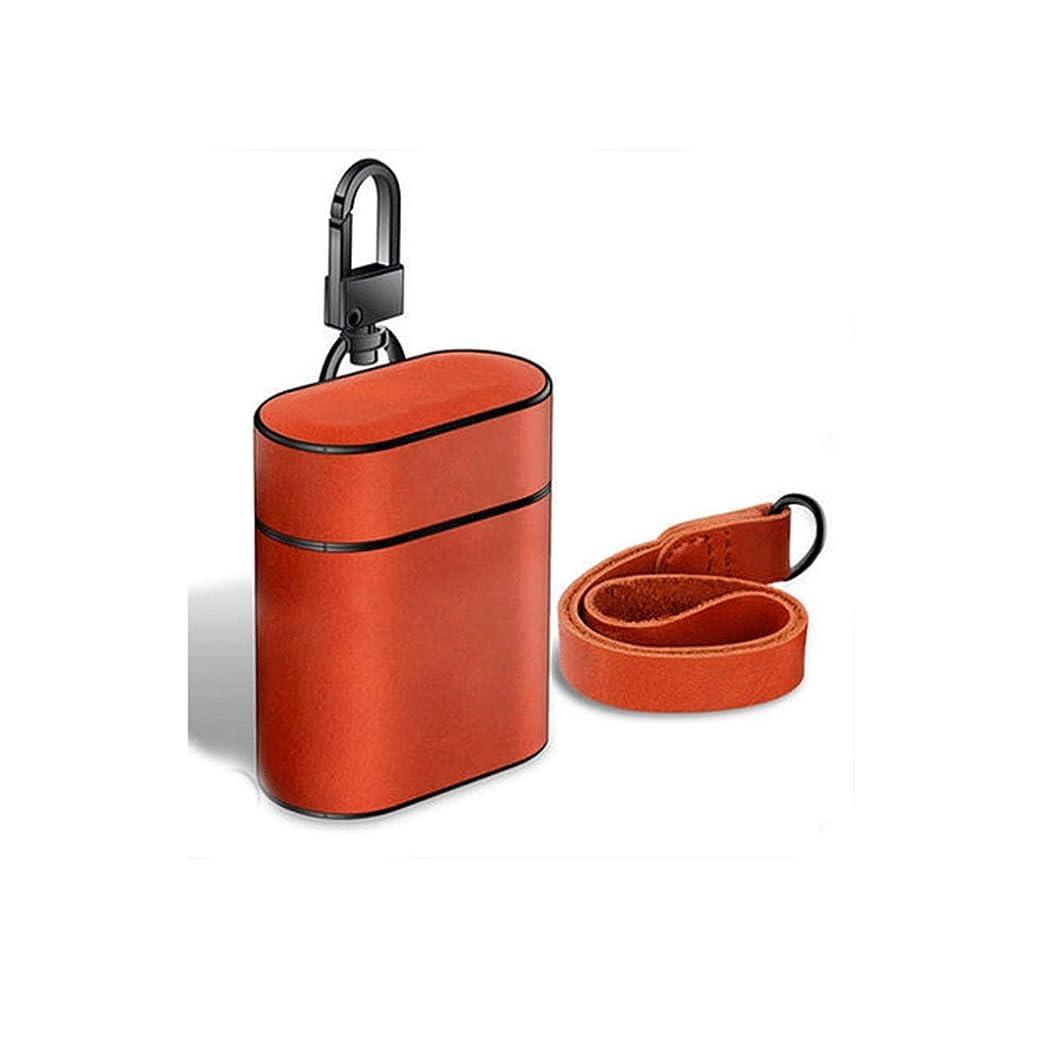 百科事典共和党活気づけるShengshihuizhong Airpodsケース、Bluetoothワイヤレスヘッドセットハードボックス、革ケースアンチロストロープダストステッカー充電、 最新のスタイル (Color : Brown)