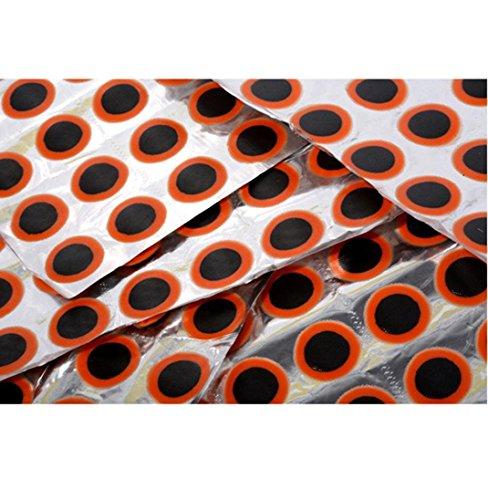 igemy 48/Tabelle Runde Gummi-Patches für MTB Fahrrad Reifen Reifenpanne, Reparatur, schwarz