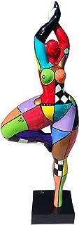 Laure Terrier Statue de Femme Danseuse, Style Nana Niki de Saint Phalle, Pièce Unique Peinte à la Main, décoration Modèle ...