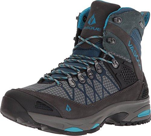 Vasque Women's Saga GTX Gore-Tex Waterproof Hiking Boot, Dark Slate/Blue, 6.5