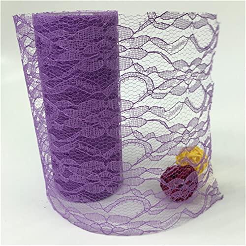 HLIAN 15 cm 10 Yards Tulle Roll Thole Lace Roll Teléfono de la Red for la Falda de Tutu for la Silla de la Boda de la Fiesta Mesa de Arco (Color : NA13 Deep Purple, Size : Gratis)