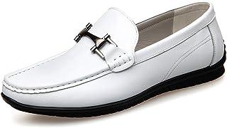 [OceanMap] ドライビングシューズ メンズ ビット付き おしゃれ カジュアルシューズ 革靴 柔らかい 軽量 通学 通勤 ローカット イングランド風 ローファー 滑り止め 歩きやすい 紳士靴 ブラック 黒 ホワイト 白 ブラウン 茶