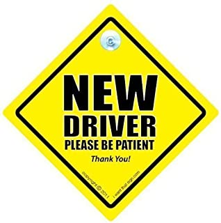 DRIVING iwantthatsign.com New Driver Car Sign, P Plate Sign, New Driver Car Sign, New Driver Please Be Patient Car Sign, Decal, Bumper Sticker, Car Test, Driving Licence, Driving Test