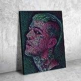 AJleil Puzzle 1000 Piezas Arte Resumen Peep Rap Imagen Moderna Obra de Arte Puzzle 1000 Piezas clementoni Educativo Divertido Juego Familiar para niños adultos50x75cm(20x30inch)