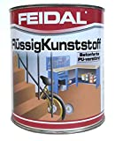 Feidal Flüssigkunststoff, zum Versiegeln und Beschichten von Betonböden, Farblos Seidenmatt / Tuffmatt / 750 ml