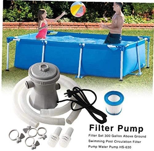 Volibear Schwimmbadfilterpumpenset , Poolwäscher, Bodenumwälzpumpe für Pool, Whirlpool, 300 Gallonen Umwälzpumpe