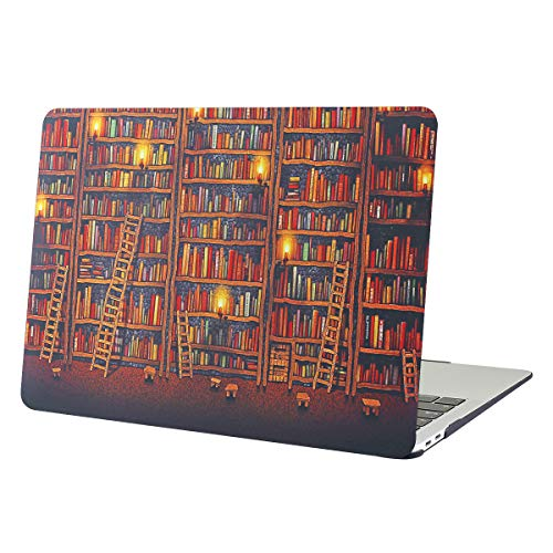MacBook Pro 13 Inch 2016 2017 2018 2019 Release, Funut Rubber Coated Glossy Plastic Hard Case Shell Fashion Style Compatible Newest Mac Pro 13 Inch A1706 A1708 A1989 A2159,Candle Bookshelf