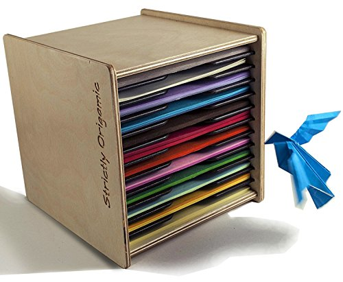Origami Paper Case Box Organizer - for 6 inch Square Sheets - by Strictly Origamic