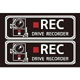 ハッピークロイツ カーステッカー ドライブレコーダー録画中 黒/白 HZ2697