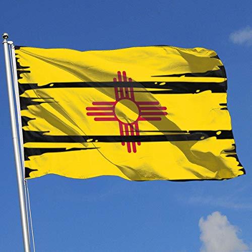New Mexico Flagge,Außenbereich Ornamenten,Rasen Saisonale Gartenflaggen,Verandafahne Garten Flagge,150X90CM,Hof Gartendekoration Flagge,Demonstrationsflagge