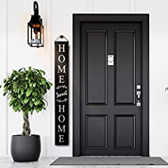 A WARM WELCOME TO ANY HOME! - Our 57 inch tall, 7.5 inch wide, 0.75 inch thick vertical welcome sign for the front porch is a beautiful year- round addition to any home and fitting for any occasion! Unlike others, ours also includes a rope hanger for...