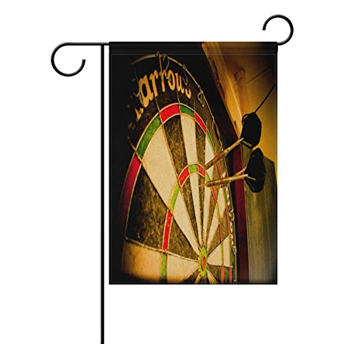 LIANCHENYI Retro-Darts-Flagge, doppelseitige Familienflagge, Polyester, Outdoor-Flagge, Zuhause, Party, Dekoration, Gartenflagge, 30,5 x 45,7 cm