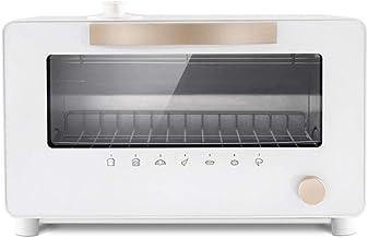 PLEASUR Mini Horno eléctrico, microondas Manual de 10 l con perillas, horneado a Vapor Retro pequeño de 1300 W para Funciones de Cocina y Parrilla, Cocina del hogar, Color Blanco