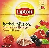 Lipton Pirámide Infusión Enchanting de Frambuesas y Arándanos - 20 bolsitas