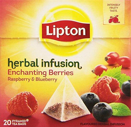 Lipton Piramide Infusion Enchanting de Frambuesas y Arandanos - 20 bolsitas