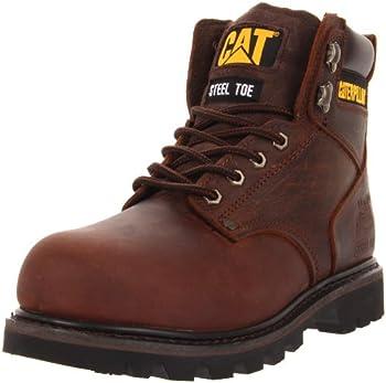 Caterpillar Men's Second Shift Steel Toe Work Boot (Dark Brown)