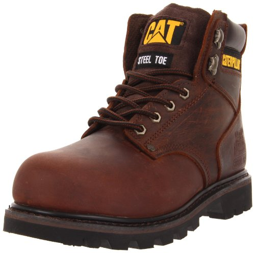 Caterpillar Men's Second Shift Steel Toe Work Boot, Dark Brown, 9 M US