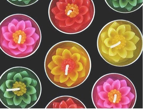 Studio one Lotus Flower Candle in Tea Lights, Floating Candles, Scented Tea Lights, Aromatherapy Relax (Pack of 10 Pcs.)