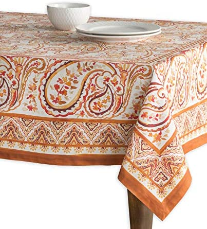 Maison d Hermine Palatial Paisley 100 Cotton Tablecloth for Kitchen Dining Tabletop Decoration product image