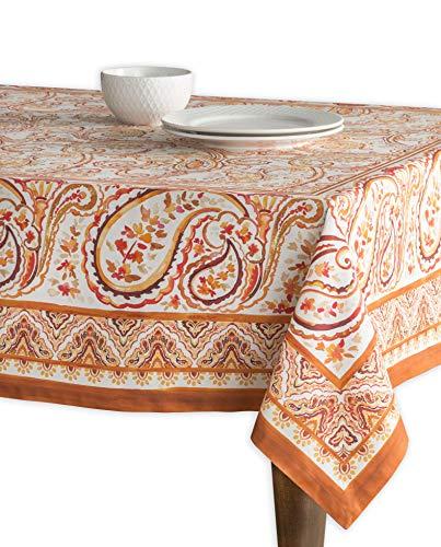 Maison d' Hermine Palatial Paisley 100% Baumwolle Tischdecke für Küche | Abendessen | Tischplatte | Dekoration Parteien | Hochzeiten | Thanksgiving/Weihnachten (Rechteck, 140 cm x 180 cm)
