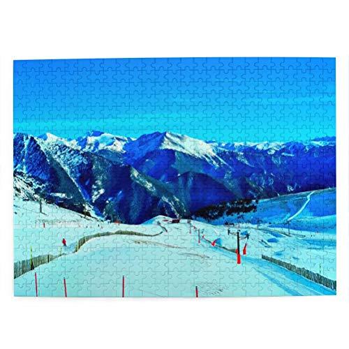 Andorra Arinsal Rompecabezas para Adultos, 500 Piezas de Madera, Regalo de Viaje, Recuerdo, 20.4 x 15 Pulgadas