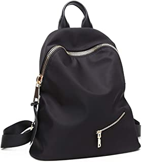 Xuan Yuan Backpack - Women's Fashion Simple Canvas Oxford Spinning Backpack Leisure Light Travel Bag Waterproof Large Capacity Can Accommodate 14-inch Computer Backpack (Color : Black)