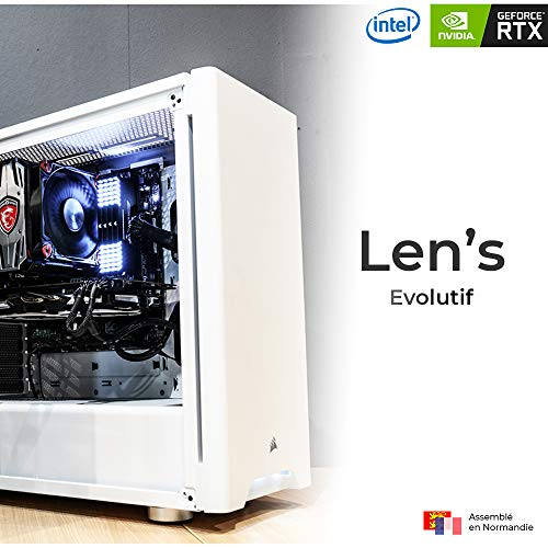 Len's Evolutif D4 – PC Gamer | Intel Core i5 9600K – Msi RTX 2060 Ventus – 16 GB DDR4 – 480 GB SSD + 1TB HDD – Ventirad Msi – WiFi – W10 Pro (assemblato e testato in Francia