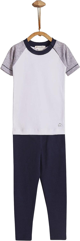 Sports Snug Fit Short Sleeve & Pants Pajama (4 YEARS, 4_years) White/Black
