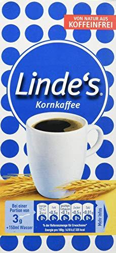 Nestlé LINDE'S KORNKAFFEE, koffeinfrei, mit Gerstenmalz, mild-würziger Geschmack & intensives Aroma ohne Koffein, 5er Pack (5 x 500g)