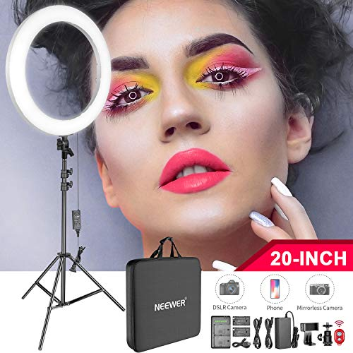 Neewer Kit Luz Anillo LED 53cm para Maquillaje Video:
