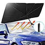 TATUFY Windshield Sun Shade Foldable Umbrella Car Sunshade for Windshield, Easy to Store and Use Protect Vehicle from UV Sun and Heat Fits Windshields of Various