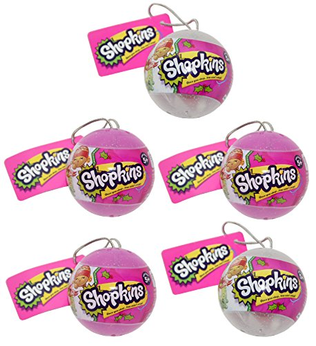 5 Shopkins Christmas Bauble Toy 2016