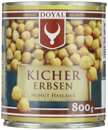 Doyal Kichererbsen, in Lake vorgekocht, 12er Pack (12 x 800 g)