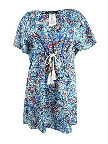 LAUREN RALPH LAUREN Mystic Paisley Kleid mit Flatterärmeln - Blau - 36