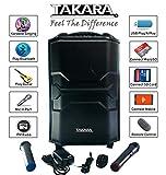 Takara Karaoke Speaker Trolley 12 Inch Woofer Portable Multimedia Bluetooth; Audio Recording; USB
