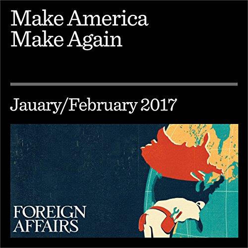 Make America Make Again audiobook cover art