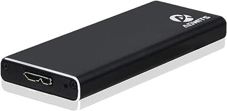 ADWITS USB 3.0 UASP a SATA NGFF M.2 2230/2242/2260/2280 Key B o B & M SSD SuperSpeed Adaptador, Carcasa Externa para Samsung Western Digital Crucial Unidad de Estado sólido y más, Negro