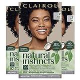 Clairol Natural Instincts Semi-Permanent Hair Dye, 2 Black Hair Color, 3 Count