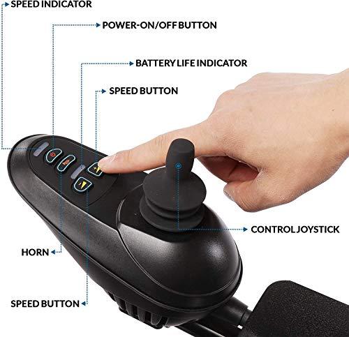 51UByZu6iJL - WISGING 2020 Silla de ruedas eléctrica portátil plegable ligera plegable Deluxe Potente motor twin Silla de ruedas compacta con ayuda de movilidad - Pesa solo 59 lbs con batería - Soporta 286 lbs
