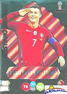 Cristiano Ronaldo Portugal 2018 Panini Adrenalyn XL WORLD CUP RUSSIA EXCLUSIVE LIMITED EDITION Card! Awesome Special Great Looking Card Imported from Europe! Shipped in Ultra Pro Top Loader! WOWZZER!