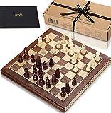 Jaques Faltschachset 15 Zoll Komplett mit 3-Zoll-Schachfiguren - Qualitätsschach seit