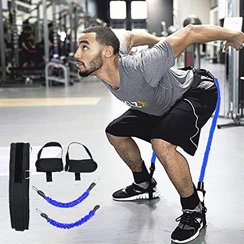 YLJYJ Equipo de Entrenador de Rebote de Baloncesto de látex, Cuerda de tracción de Fuerza Muscular de Pierna para Moldeador de Cuerpo de Fitness