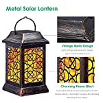 Selling Bullet Points for TomCare Solar Lights Metal Solar Lantern Flickering Flame Outdoor Hanging Lanterns Lighting Heavy Duty Waterproof Solar Powered LED Flame Umbrella Lights for Garden Patio Pathway Deck Yard, 2 Pack